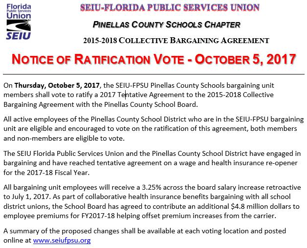 Pinellas County Schools Seiu Florida Public Services Union